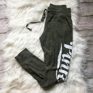 PINK Joggers Olive Green Lightweight